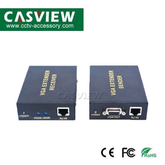 Video VGA 1x1 UTP Extender Extension Over CAT-5e Cat-6 UTP With Audio up to 300M