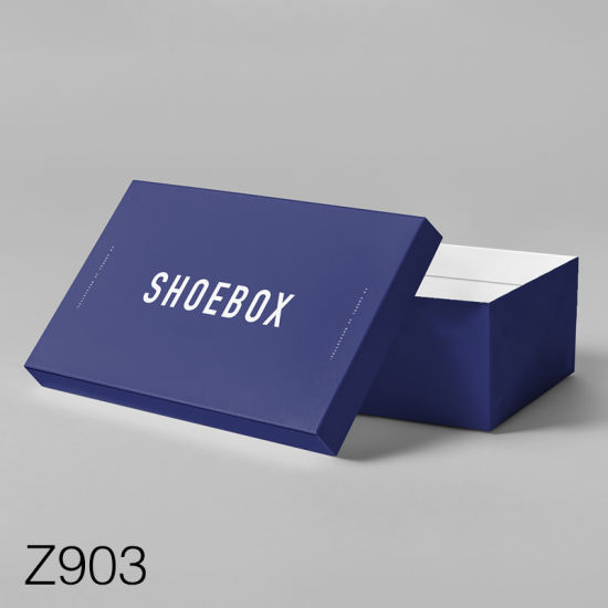 Z903 Wholesale Cheap Clear Giant Custom Logo Printed Paper Packing Cardboard Gift Box /Shoe Box