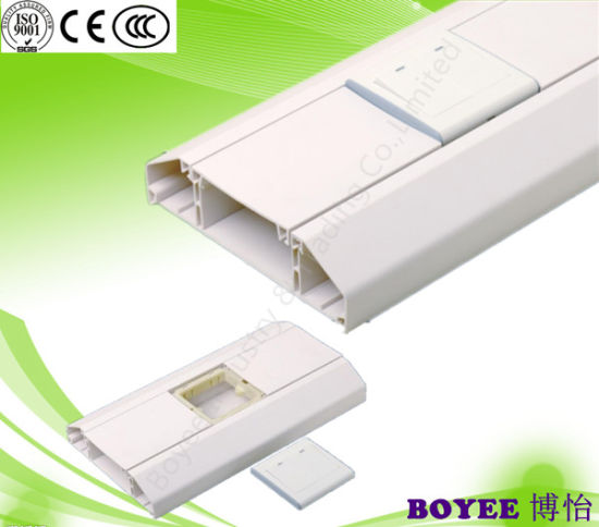 White Wiring Duct / PVC Electric Trunking / PVC Electrical Pipe / Square  PVC Pipe