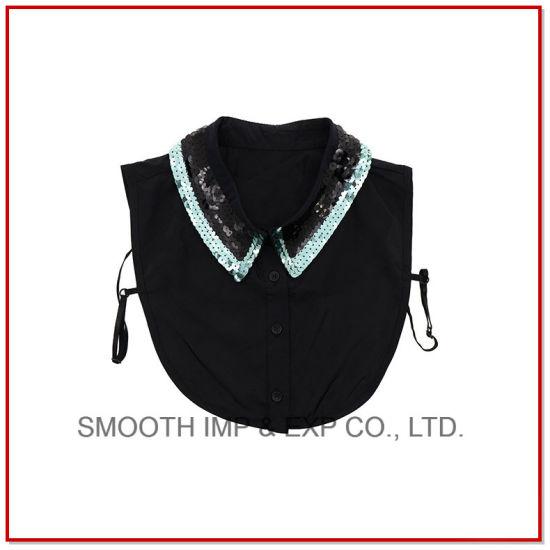 Wholesale Fashion Sequins Women's Black Half-Length Fake Collar