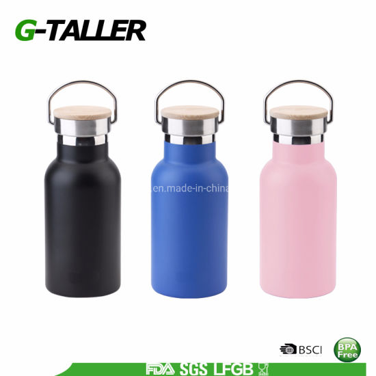 350ml Eco Friendly Metal Water Bottles with Optional Lids