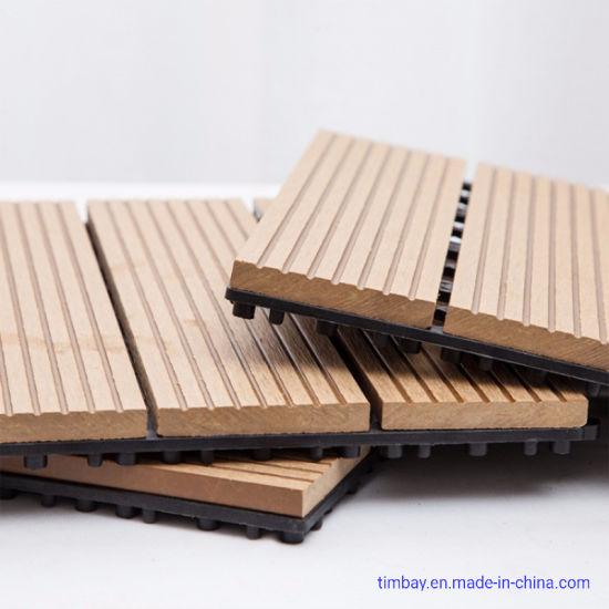 Timbay WPC Interlocking Tiles Indoor Outdoor Household Garden DIY005