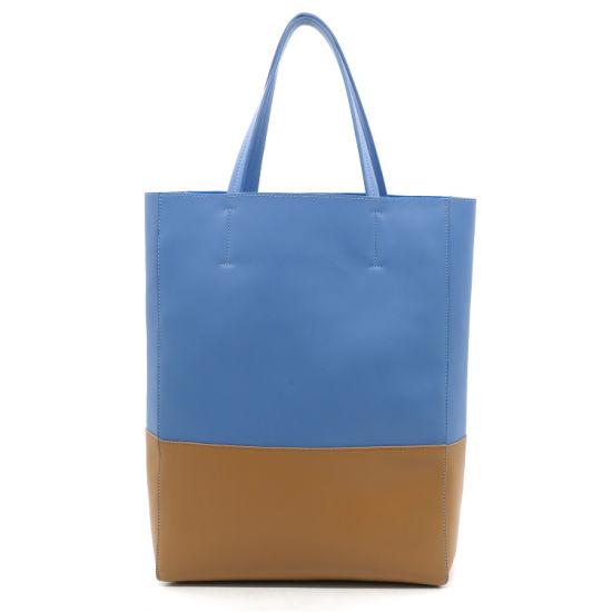 c67bb496e 2019 New Arrival Designer Two Tones PU Tote Handbag Women Shopper Bag  pictures   photos