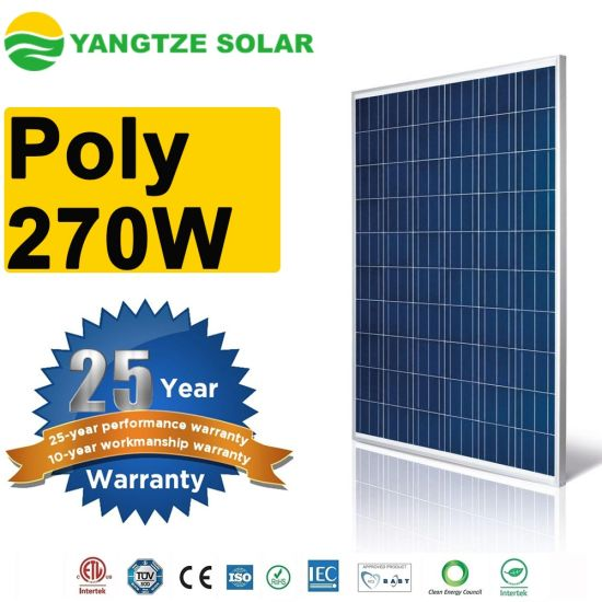 Yangtze Poly 270W with Solar Panel From China pictures & photos