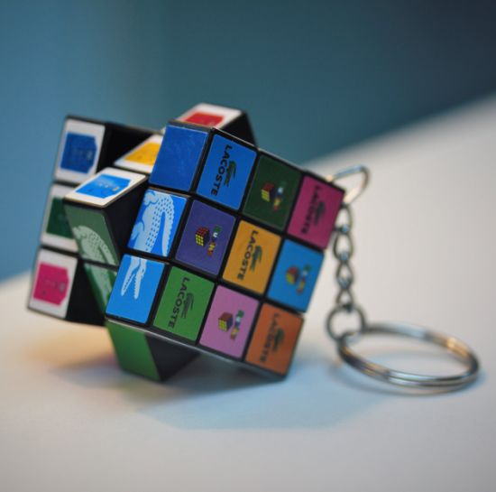2019 Factory Price Promotional Gifts Keychain Magic Cube with Any Logo Printing