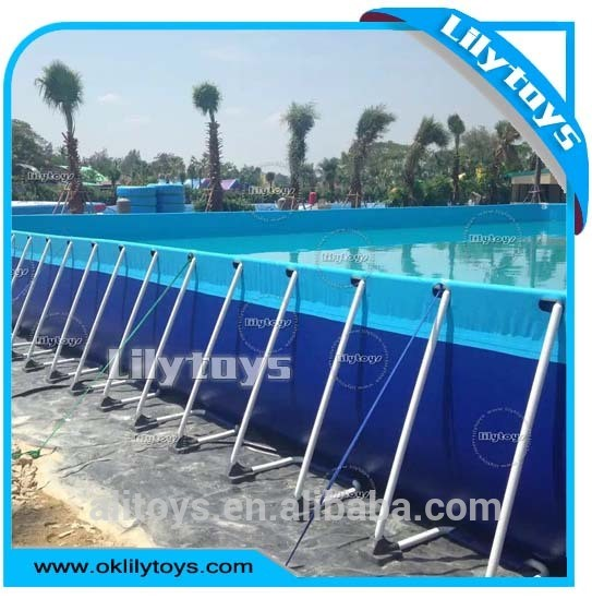 Customized Collapsible Metal Frame PVC Swimming Pool for Water Park Using