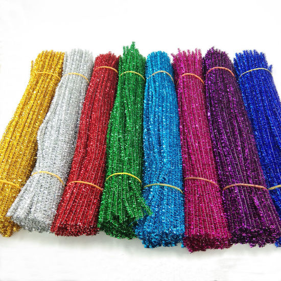 Glitter Shining Colors Chenille Stem Classpack -Wire Pipe Cleaner