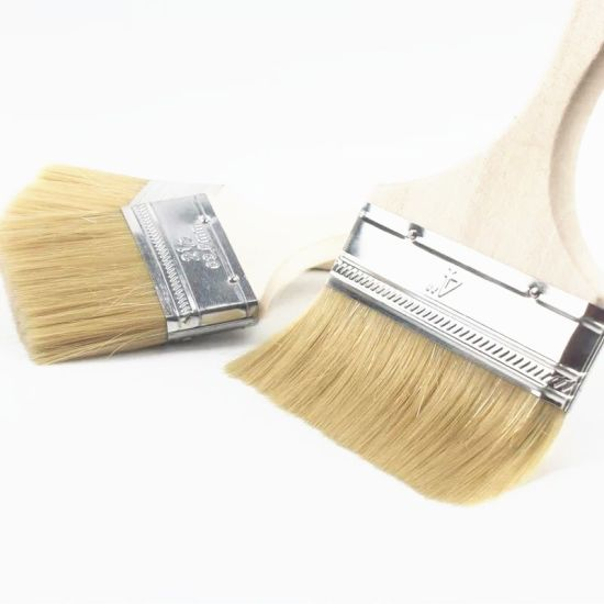 Factory Price Wholesale White Wooden Handle Paint Brush pictures & photos