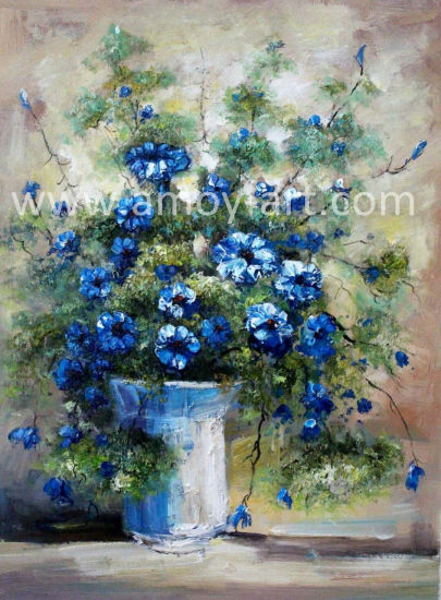 Handmade Reproduction Flower Landscape Canvas Oil Painting for Wall Decoration pictures & photos