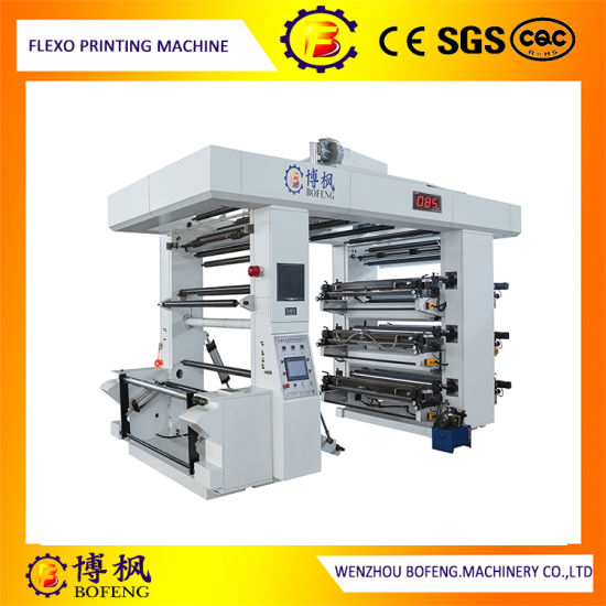 Six Color High-Speed Full Configuration Woven Sack Bag/Plastic Bag Flexographic/Flexo Printing Machine with Ceramic Roller