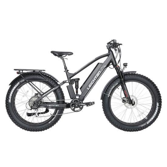 "26"" *4.0 Fat Tire Electric Bike 500W/750W/48V/16ah/19ah E-Bike Alloy Aluminum Full Suspension Hub Motor Electric Mountain Bike"