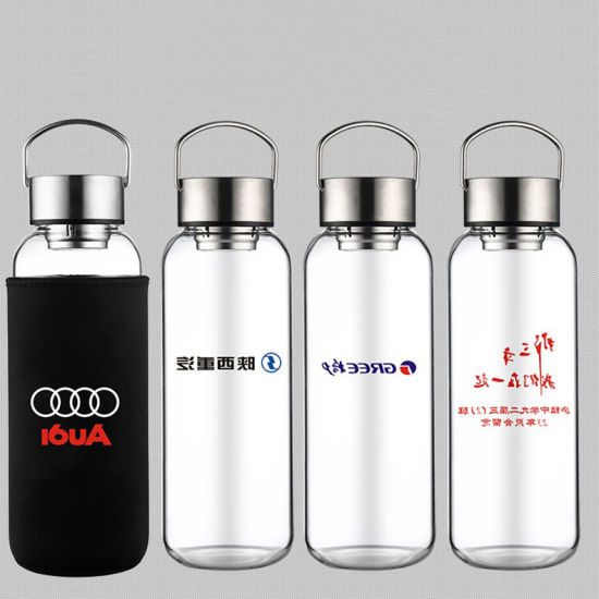 High Capacity 1200ml Hot Sale Water Cup, New Design Water Glass Bottle with Handgrip Sleeve and Custom Logo