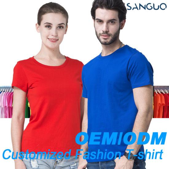 T Shirts Custom Men's T-Shirt Blank Tee 100% Cotton High Quality Printing