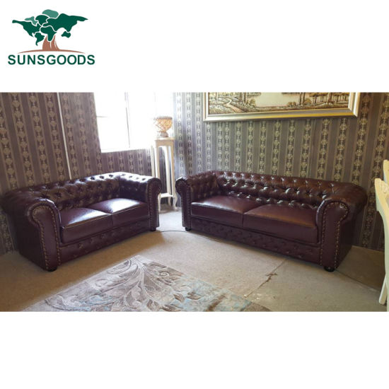 Clic Chesterfield Couch Living Room