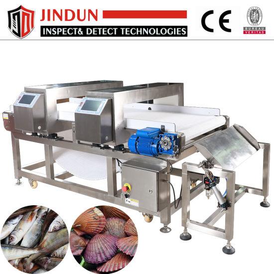Food Grade Twin Heads Touch Screen Conveyor Belt Metal Detector