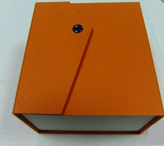 Orange Paper Cardboard Button Gift Packaging Paper Box