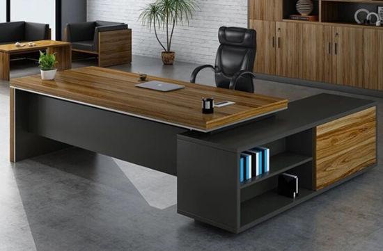 Wholesale Customized Big Boss Office Desk L Shape Office Table