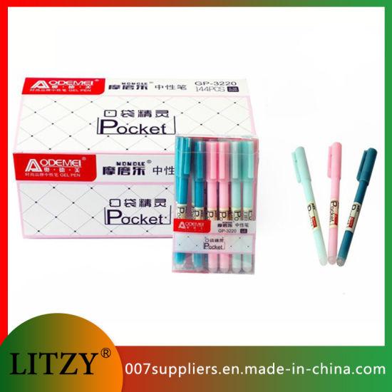 Wholesale Pocket Erasable Pen 0.5 mm Black /Blue Gel Pens for Student School Office Stationery Supply