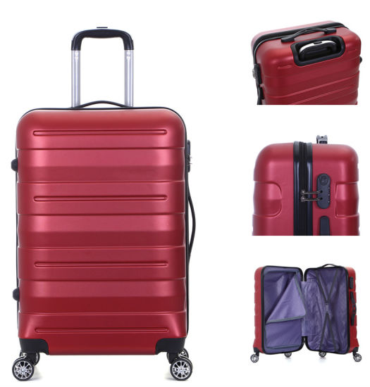 Trolley Three-Piece Removable Wheel Luggage with Lock ABS Zipper Trolley Set-Xha130