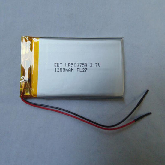 Ewt Lp503759 Polymer Lithium Lipo Battery with Wires and Connector