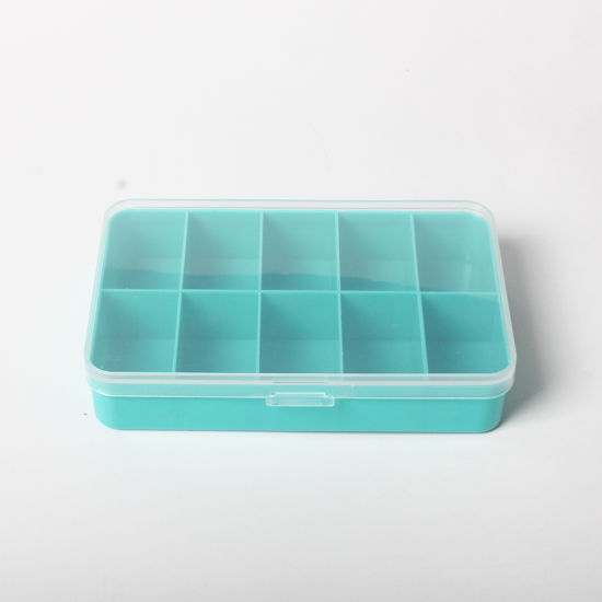 21987 Mini Green Storage Box with 10 Compartments