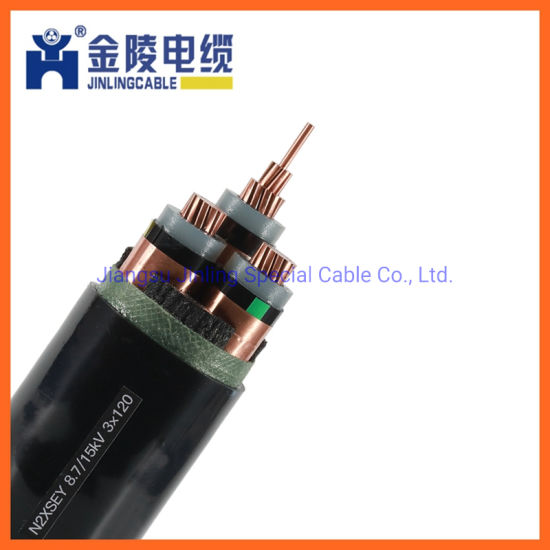 XLPE Insulated 3 Cores Mv Power Cables