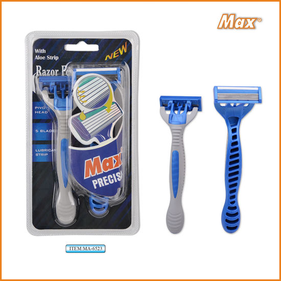 2021 Hot Sale Polybag Packing 3 Razor Blade with Rubber Handle
