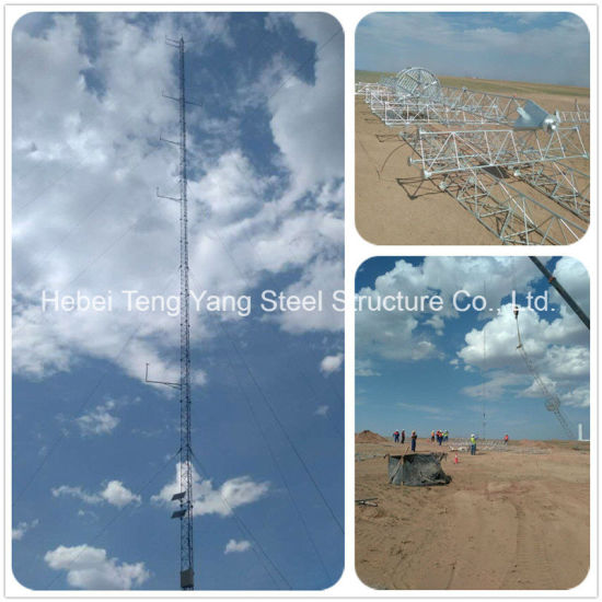 Triangular Steel Lattice Galvanized Antenna Guyed Tower with Lowest Price pictures & photos