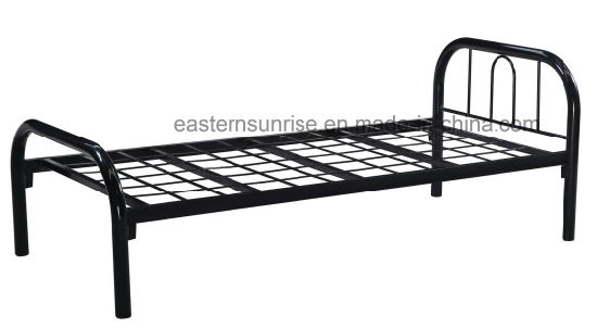 China Hot Sale Durable Frame Modern Metal Single Bed Iron Bed