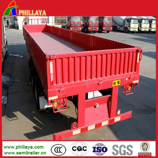 40FT 35-40ton 3 Axle Bulk Cargo Side Wall Semi Trailers pictures & photos