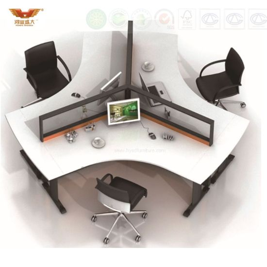 New Design Modern Straight 6 Seats Office Partition Workstation (HY-285) pictures & photos