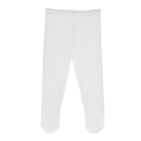 Bamboo Soft Stretchy Girl Tights Toddler Pant Tights White