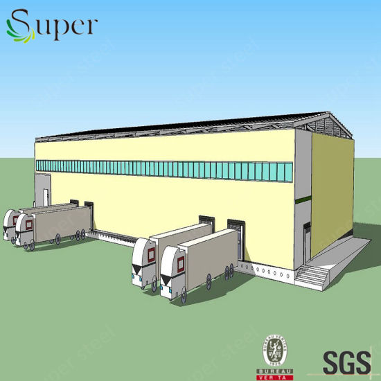 Large-Span Structures Steel Cold Storage Warehouse Buildings