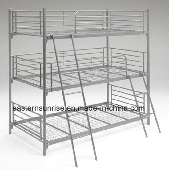 China Cheap Price Knock Down Steel Metal Triple Bunk Bed China