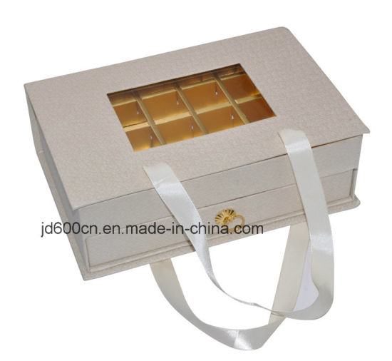 Luxury Paper Chocolate Gift Box with Transparent Window