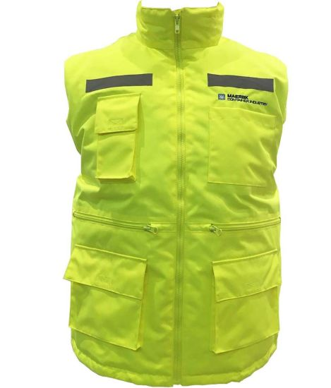 Adult Work Clothes Promotional Winter Padded Lining Functional Pocket Safety Vest
