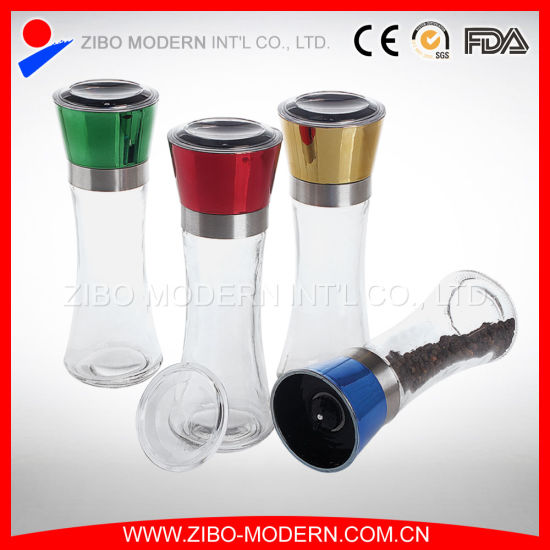 Manual Glass Salt and Pepper Mill/Glass Bottle Grinder/Spice Grinder pictures & photos