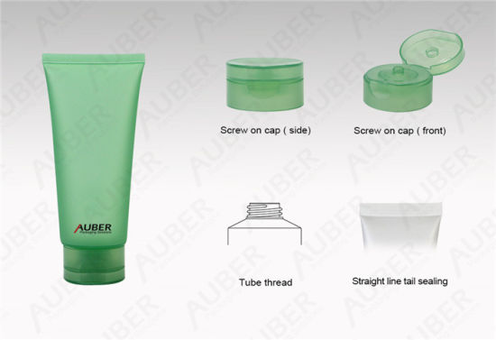 D45mm Green Translucent Cosmetic Plastic Tubes Packaging