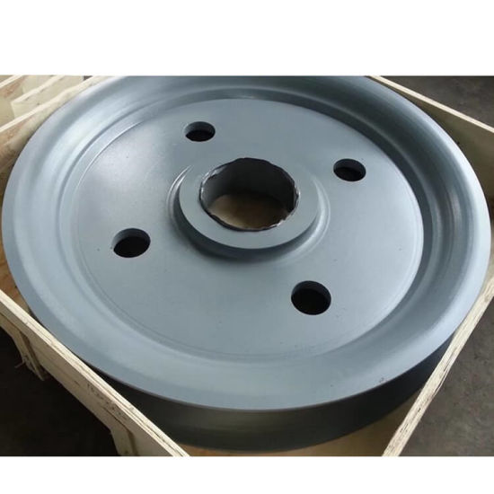Densen Customized Alloy Steel Super Large Hot Forging Rope Pulley, 20 Ton Wire Rope Steel Pulley pictures & photos