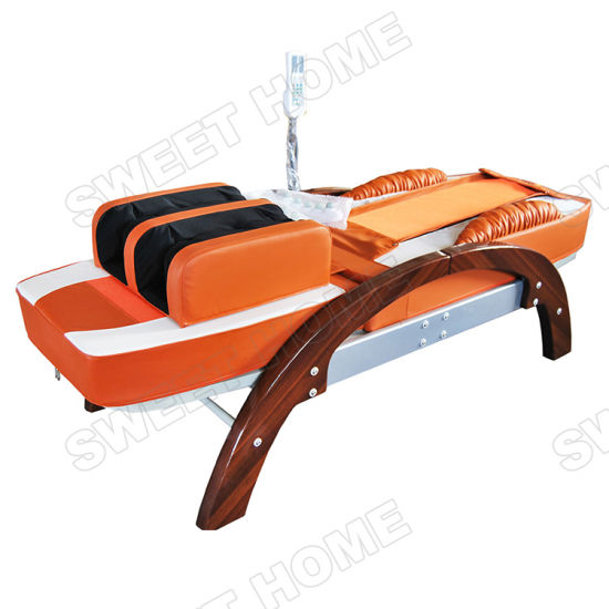 Electric Wood Automatic Air Acupressure Thermal Jade Thai Massage Bed