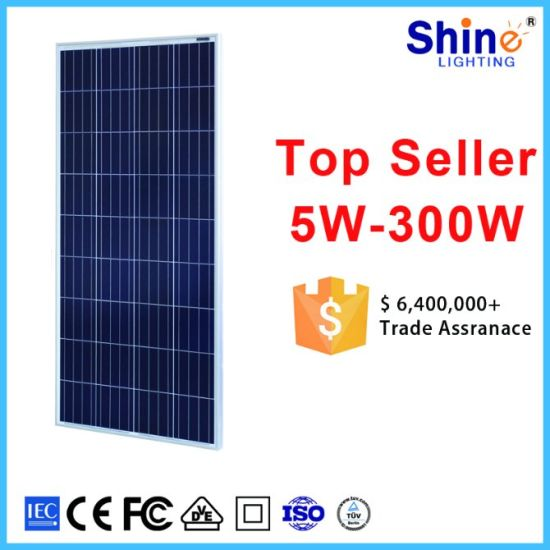 Home High Quality 150 W 18 V Polycrystalline and Monocrystalline 1 Kw 5 Kw Solar Panel pictures & photos