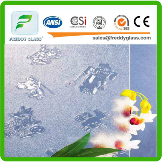 Clear Animals Patterned/Figured/Rolled Decoration Glass with CE CCC ISO9001 pictures & photos