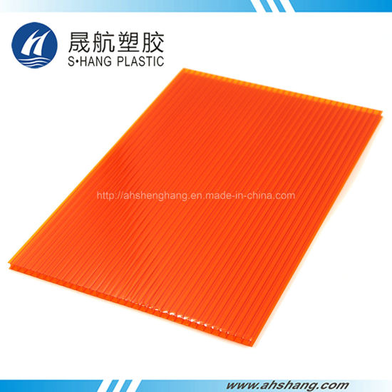 6mm Blue Color Polycarbonate Hollow Sheeting for Building Roof pictures & photos