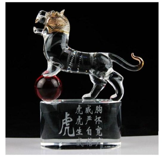New Fashion Antique Sculpture Crystal Animal Model Craft