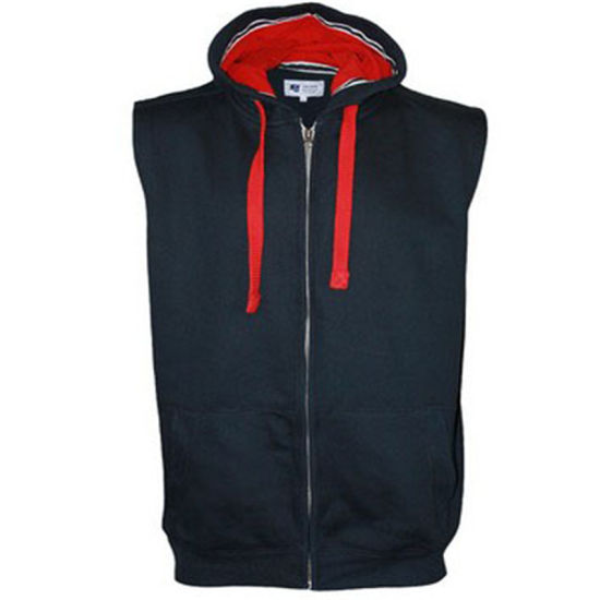 fc4d47cea53270 China Custom Men Sleeveless Blank Zip up Hoodies - China Sleeveless ...