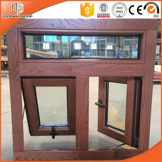Villa Use Wood Grain Finish Exterior Aluminum Frame Window American Australian Style Solid Awning For