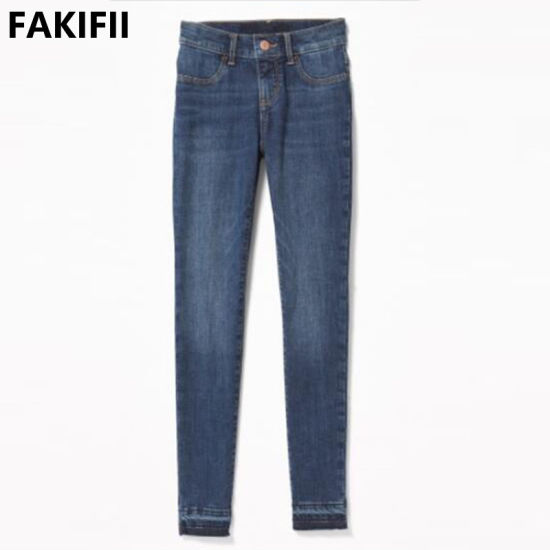 Fakifii Factory 2021 Summer Fashion Brand Baby Cotton Jeans for Girl Children Clothes