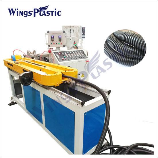 Wholesale Plastic PVC PP PE Single Wall Corrugated Pipe Tube Hose Production Extrusion Line