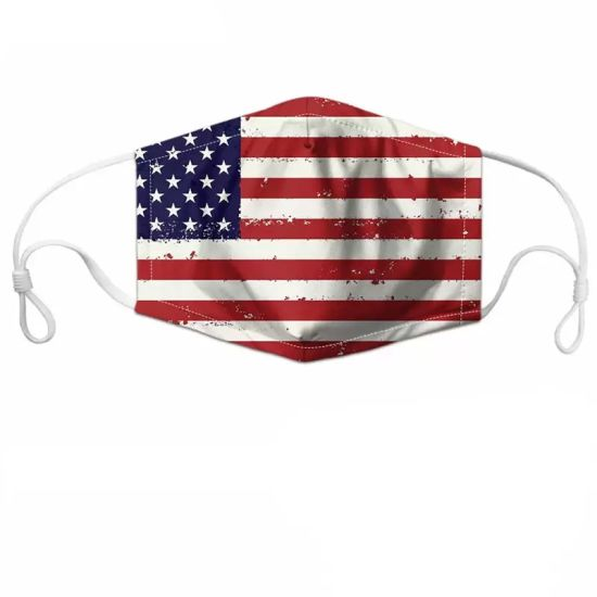 3D USA Flag Printed 4 Layers Children and Adult Reusable Washable Pm2.5 Filter Earloop Cotton Face Mask pictures & photos