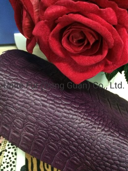 Horse Hair Crocodile Pattern Printing Hair Calf Genuine Leather for Shoes, Bags and Furniture